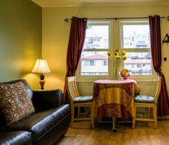 Lombard Queen Suite with Kitchen & Sofa Sleeper at San Francisco, California